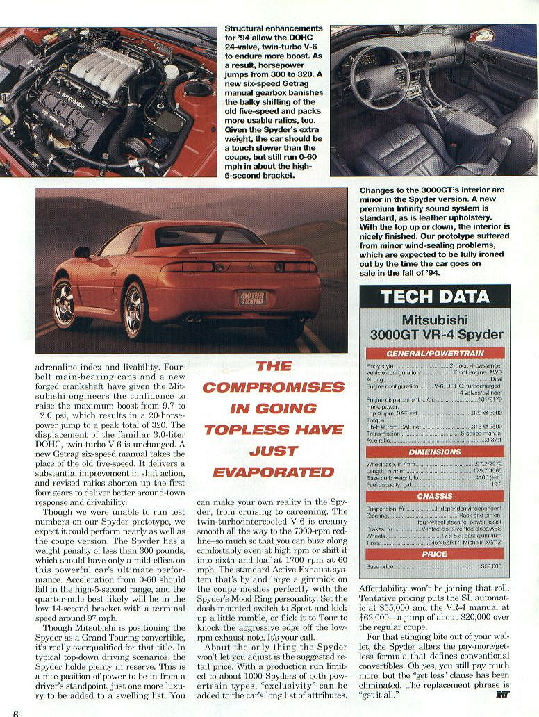 May 1994 Motor Trend Cover Story