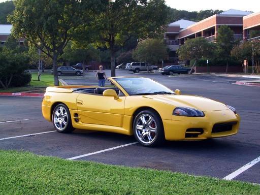 Custom Yellow 3000GT Spyder with